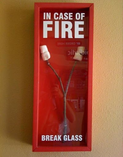In Case Of Fire - Funny pictures