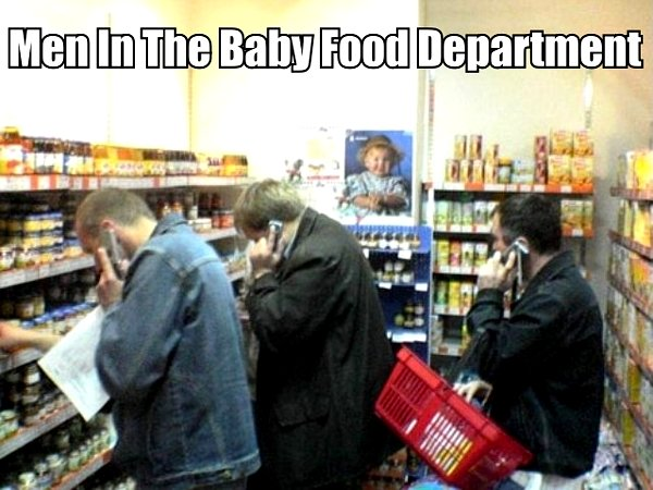 Men In The Baby Food Department - funnypictures.me