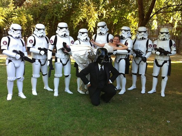 Darth Vader's Wedding Party - funnypictures.me