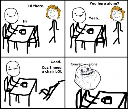 Forever Alone In Cafeteria - funnypictures.me