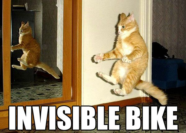 Invisible Bike - Funny pictures