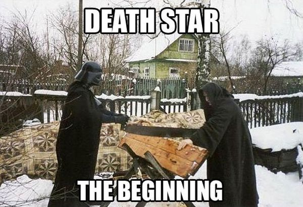 Death Star - The Beginning - funnypictures.me