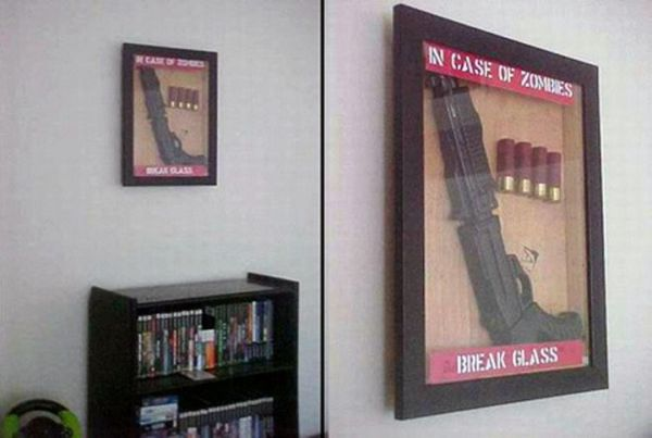 In Case Of Zombies Break Glass - Funny pictures