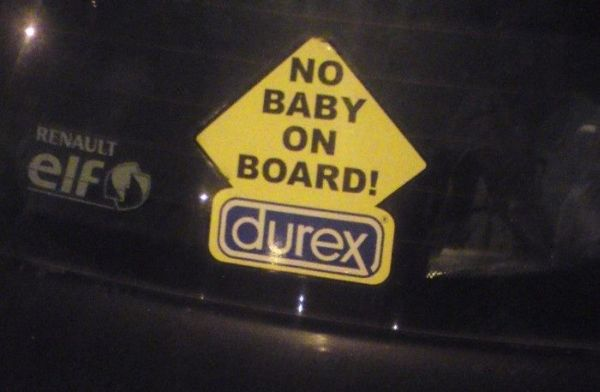 No Baby On Board - funnypictures.me