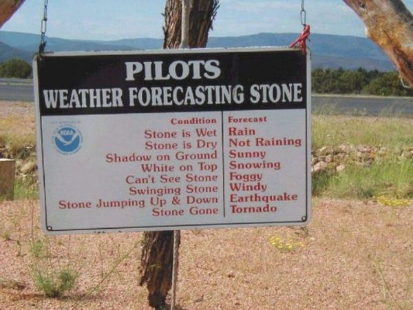 Pilots Weather Forecasting Stone - funnypictures.me