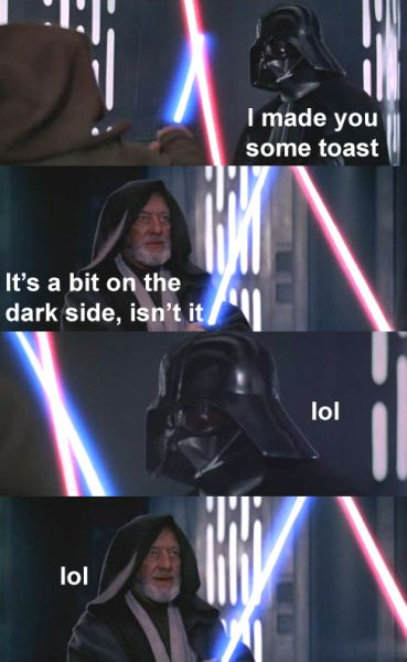 Toast On The Dark Side - Funny pictures