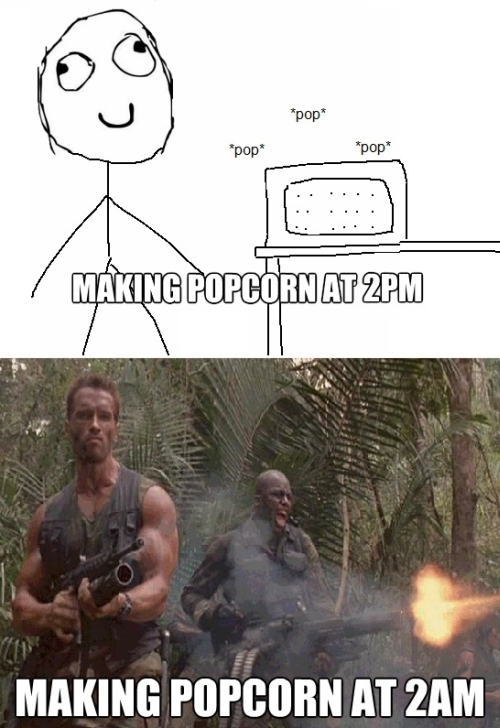Making Popcorn - funnypictures.me