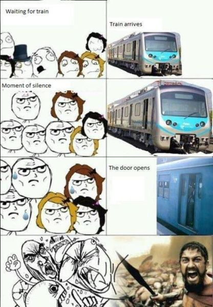 Meanwhile At The Train Station - funnypictures.me