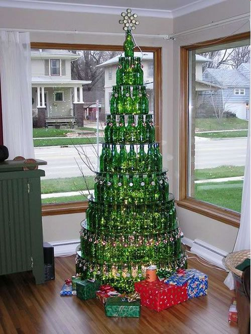 Beer Bottles Christmas Tree - funnypictures.me