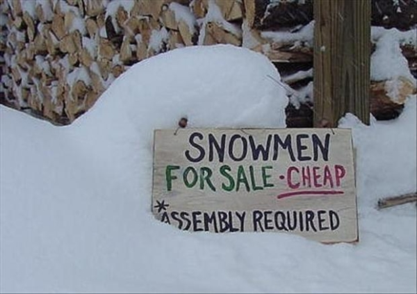 DIY Snowmen - Funny pictures