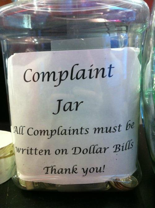 Complaint jar - Funny pictures
