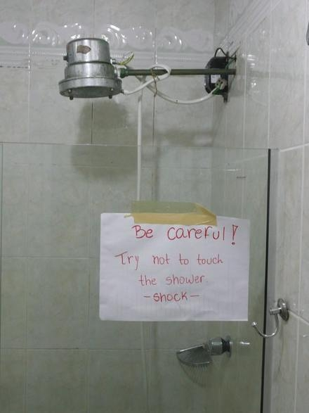 Shower shock - Funny pictures
