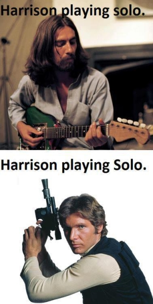 Harrison playing solo - Funny pictures