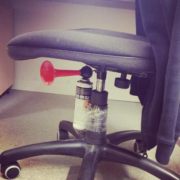 Cruel prank horn chair - Funny pictures-