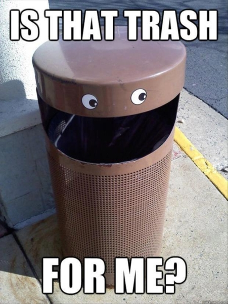 Happy trash can - Funny pictures