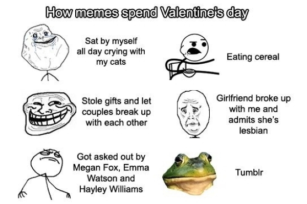 How Memes Spend Valentine's Day - Funny pictures