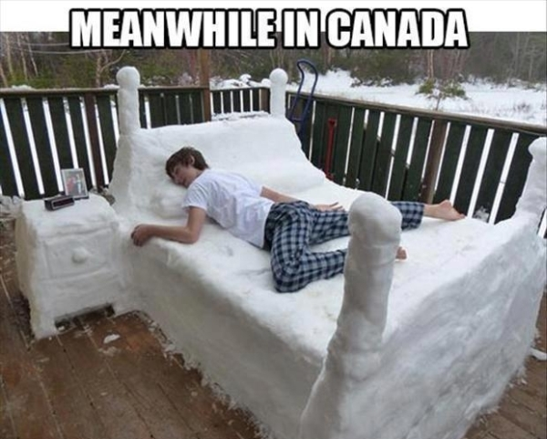Snow bed - Funny pictures