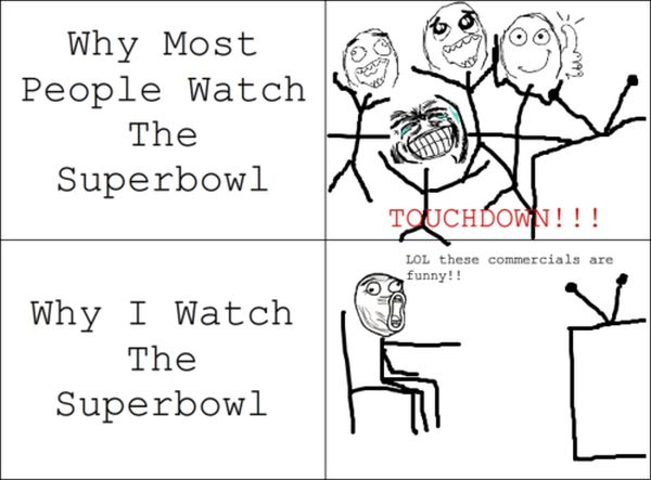 Watching The Superbowl - Funny pictures
