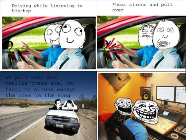 Driving While Listening To Hip-Hop - Funny pictures