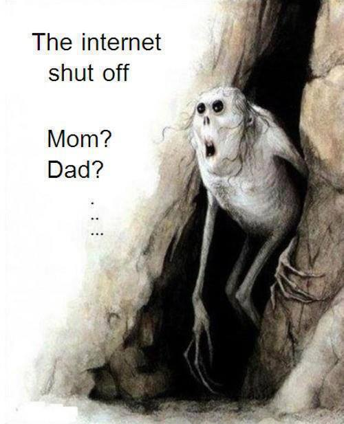 The Internet Shut Off - Funny pictures