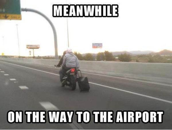 Meanwhile On The Way To The Airport - Funny pictures