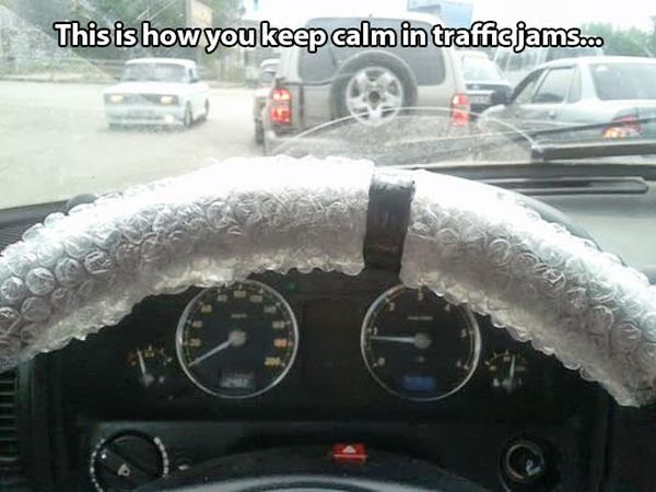 How To Keep Calm In a Traffic Jam - Funny pictures