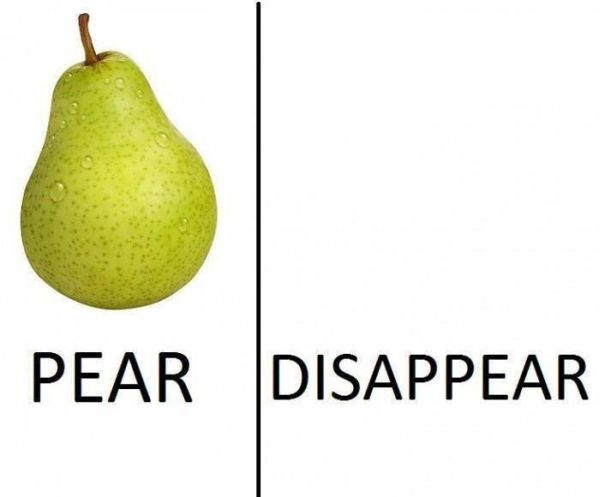Pear - Disappear - Funny pictures