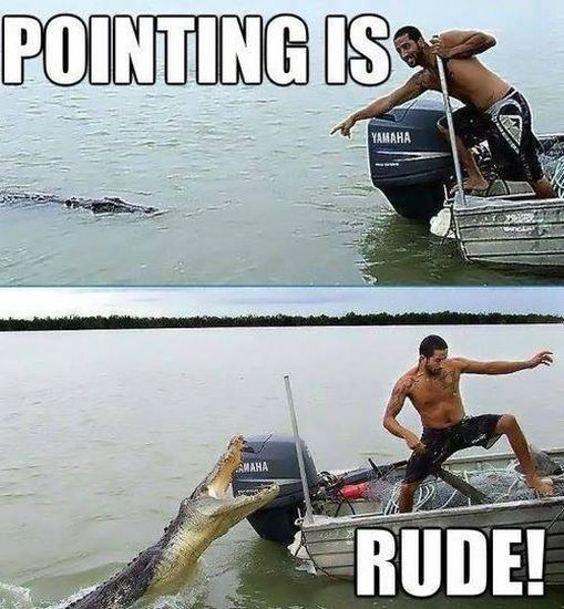 Pointing Is Rude - Funny pictures