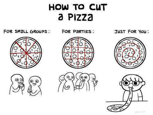 How To Cut A Pizza - Funny pictures