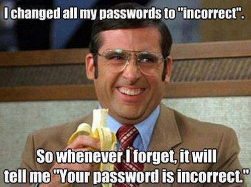 How To Remember Your Password - Funny pictures