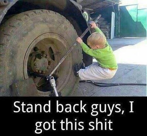 Stand Back Guys - Funny pictures