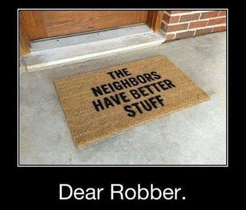 Dear Robber - Funny pictures