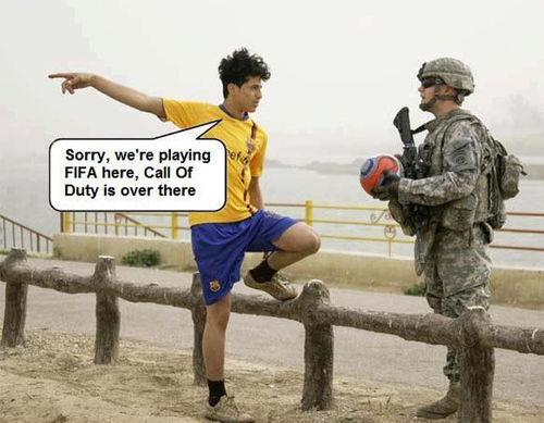 Sorry, We're Playing FIFA Here - Funny pictures