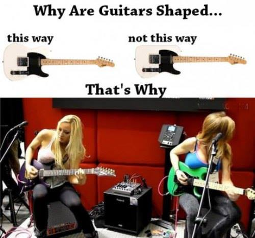 Why Are Guitars Shaped This Way - Funny pictures