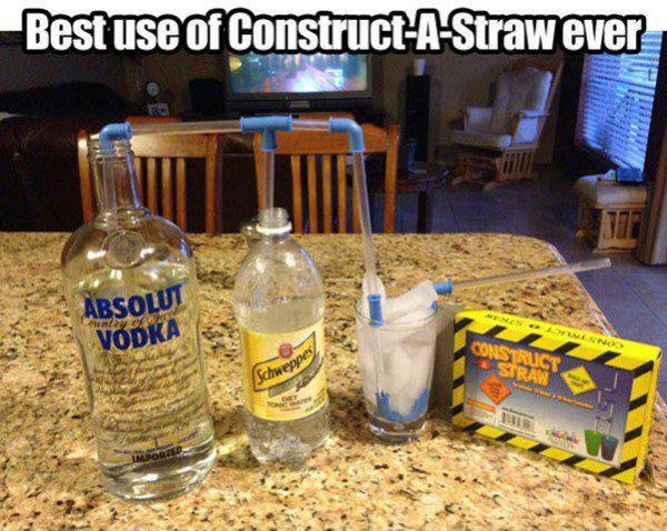 Best Use of Construct a Straw - Funny pictures