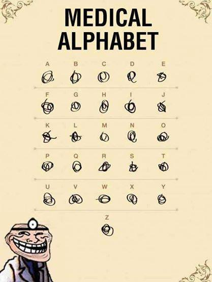 Medical Alphabet - Funny pictures
