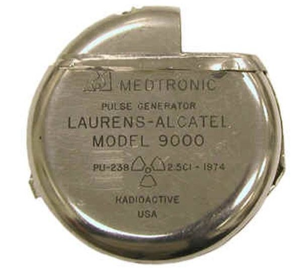 Radioactive products from past - Plutonium pacemaker