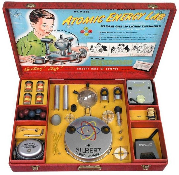 Radioactive products from past - Atomic energy lab for kids
