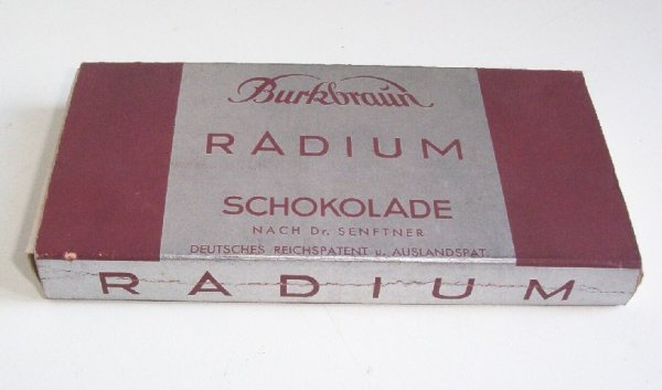 Radioactive products from past - Radium chocolate
