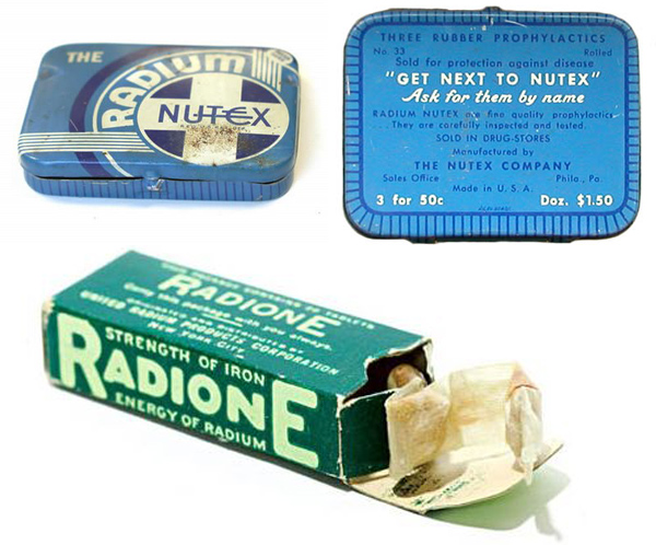 Radioactive products from past - Radium condoms