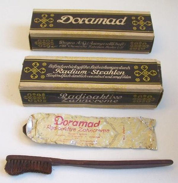 Radioactive products from past - Radium toothpaste