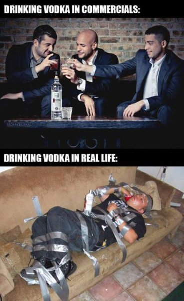 Drinking Vodka - Funny pictures