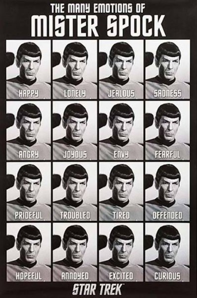 The Many Emotions Of Mister Spock - Funny pictures