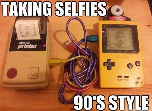 Taking Selfies 90's Style - Funny pictures