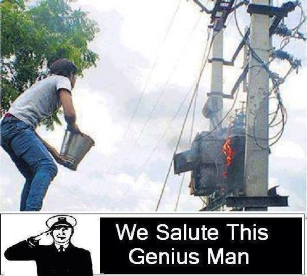 We Salute This Genius Man - Funny pictures