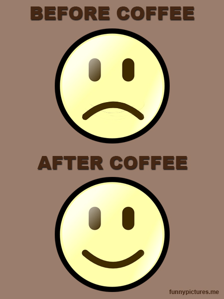 Coffee - Before And After - Funny pictures
