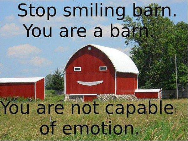 Stop Smiling Barn - Funny pictures
