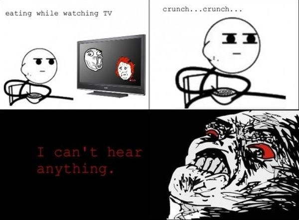 Eating While Watching TV - Funny pictures