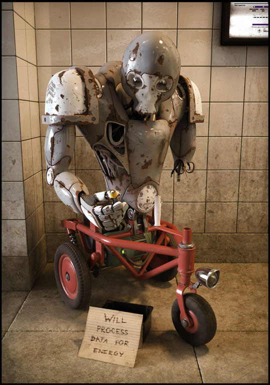 Homeless Robot - Funny pictures