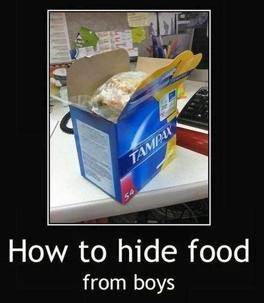How To Hide Food From Boys - Funny pictures